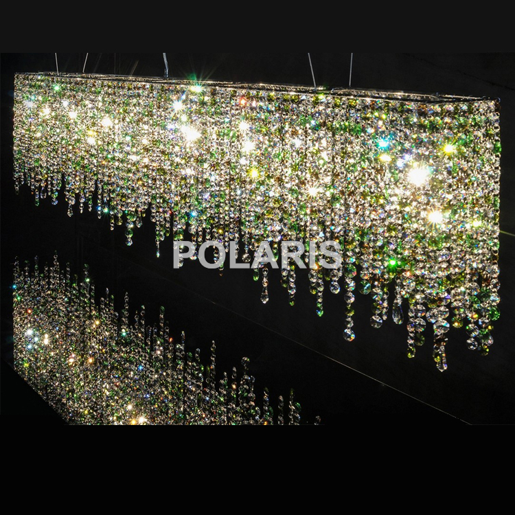 Kontemporari Moden Mewah LED K9 Crystal Chandelier Lighting Hanging Lights / Lamps untuk Villa Dining Room and Hotel Decoration