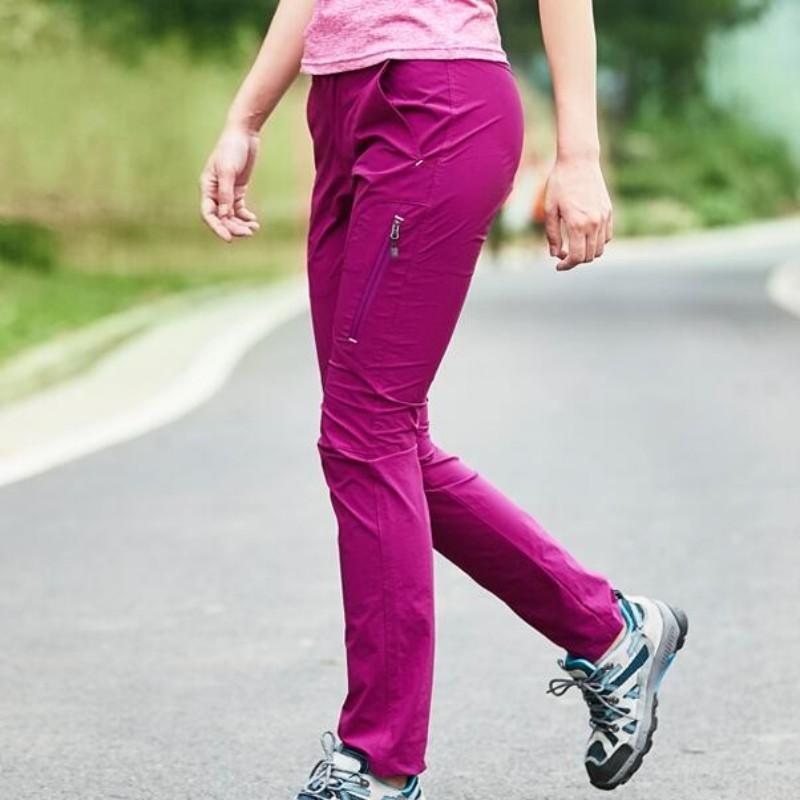 Alta Calidad Escalada Trekking Pantalones Deportivos Para Las Mujeres Rapido Seco Swag Slim Fit Softshell Pantalones Femeninos Pantalones Impermeable Al Aire Libre Papatya Planet