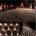 3 m * 2 m 204 LED Net Luz Grande Del Banquete de Boda de Navidad Al Aire Libre jardín de Malla de Hadas de Luz A Prueba de agua de LA UE/EE. UU. Plug Un filete de lumiere