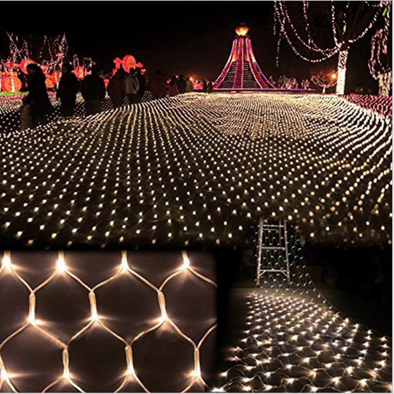 Aliexpress buy 3m2m 204 led net light large outdoor christmas aliexpress buy 3m2m 204 led net light large outdoor christmas wedding party garden mesh fairy light waterproof euus plug un filet de lumiere from workwithnaturefo
