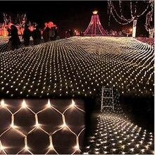 3 м * 2 м 204 СВЕТОДИОДНЫХ Чистый Свет Большой Открытый Свадьбы Рождество сад Сетки Фея Света Водонепроницаемый ЕС/США Plug Оон filet de lumiere