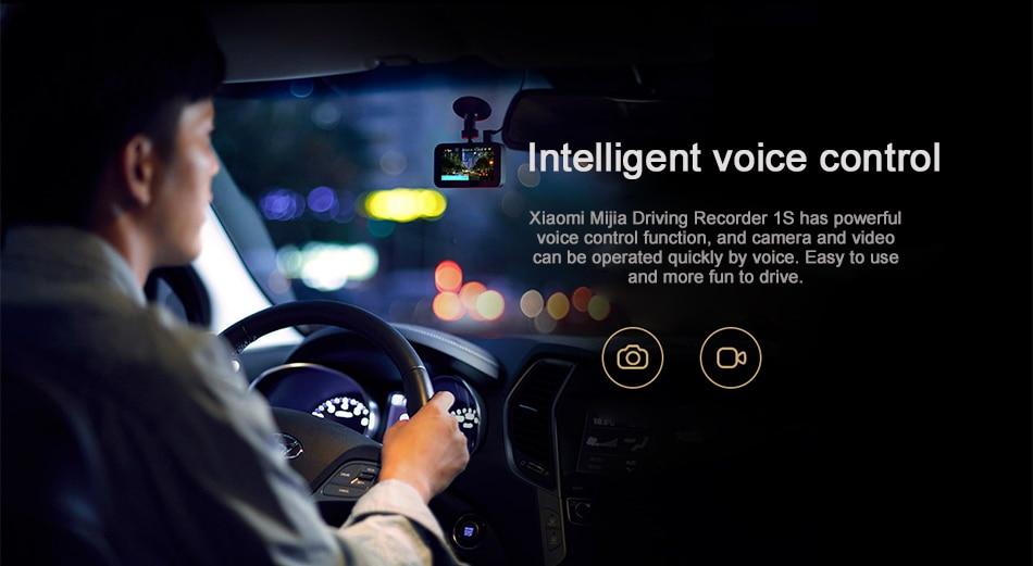 Original Xiaomi Mijia Carcorder 1S Smart DVR Car Driving Camera Recorder F1.8 1080P 160 Degree Wide Angle 3 Inch HD Screen (4)