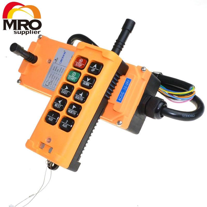 OBOHOS 10 Channels 1 Speed industrial wireless Truck Hoist Crane Winch Radio Remote Control System Controller XH00025 цена