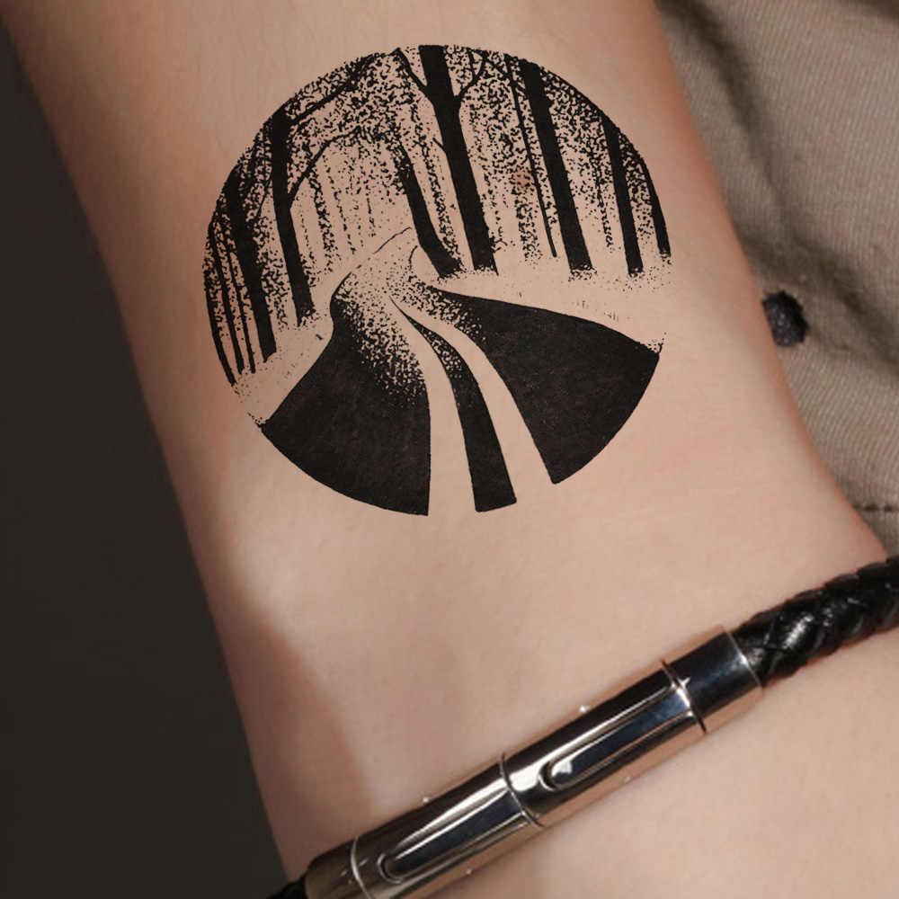 Vankirs Water Transfer Jungle Forest Wrist Tattoos Stickers Men Black Arm Temporary Tattoo Body Art Painting Fake Custom Tatoos