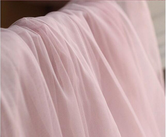Blush Pink Mesh Fabric Light