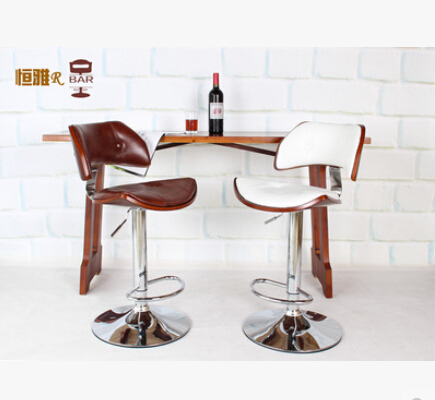 Furniture Bar Furniture European High-grade Solid Wood Buffet Chairs Retro High Chair Lift Swivel Chair At The Front Desk