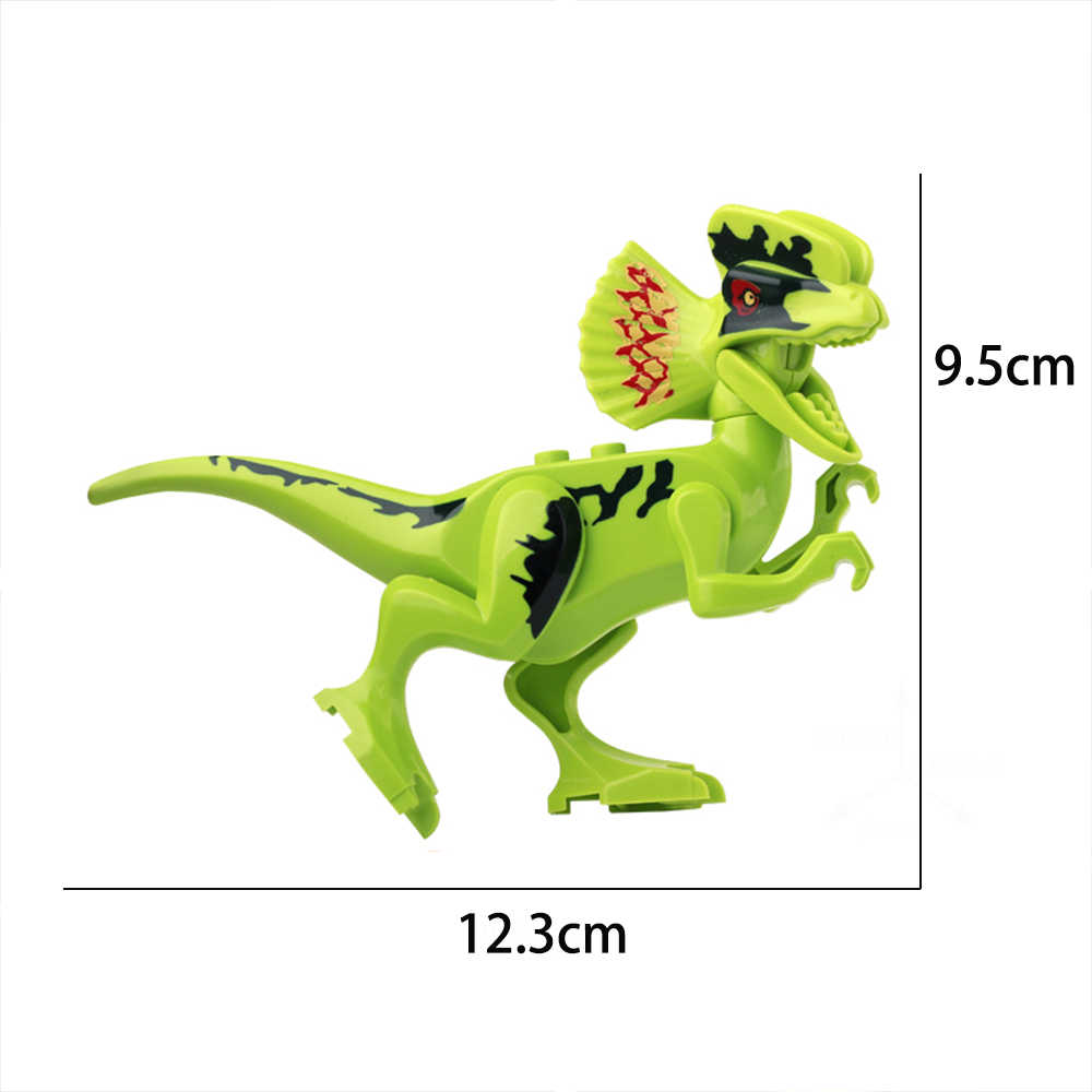 Jurassic Dinosaurs World Park Blocks Dinosaur Raptor Protection Zone Building Blocks Set Kids Toys Juguetes Tyrannosaurus Bricks