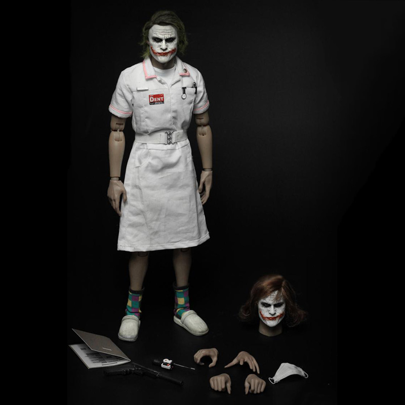 Full set MF11 1/6 scale joker Nurse Ugliness 2.0 for collection Movable Doll Model 12'' Action Figure Painting model toys neca action figure model toys 1 4 scale lord of the rings gollum smeagol movable model toys for children gifts collections