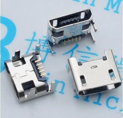 цена на 10pcs Micro USB connector 5pin seat Jack Micro usb Four legs 5P Inserting plate seat Mini usb connector