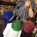 Fashion party случайные blingbling дизайн мяч цепи плеча сумки дамы кошелек женская щитка crossbody мини сумка