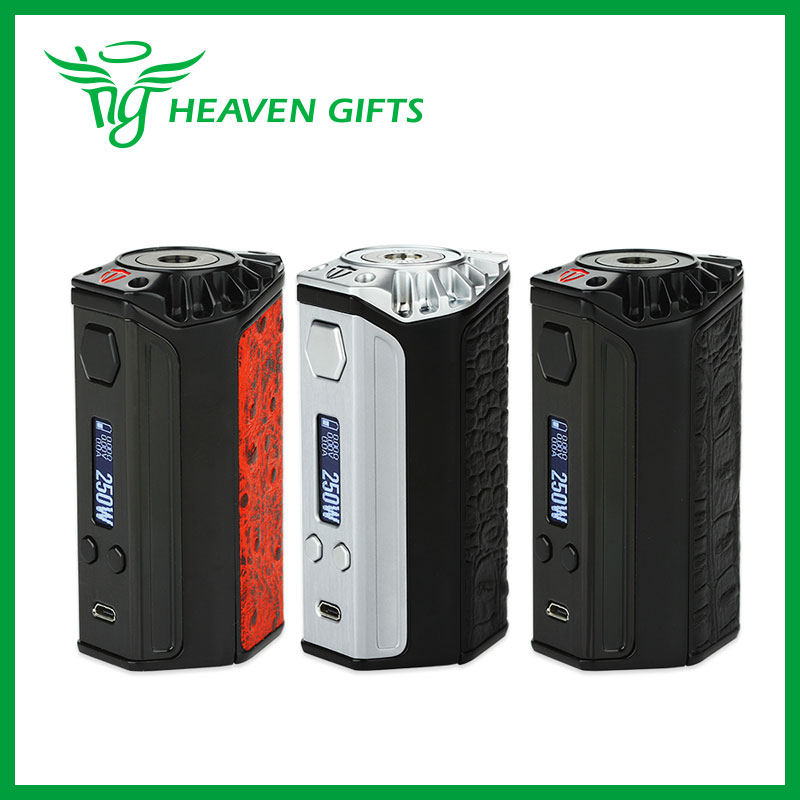 Original Think Vape Finder 250W TC Box MOD with DNA250 Chip W/O Battery Powerful Vaping Gear with 510 Thread No 18650 Battery vape