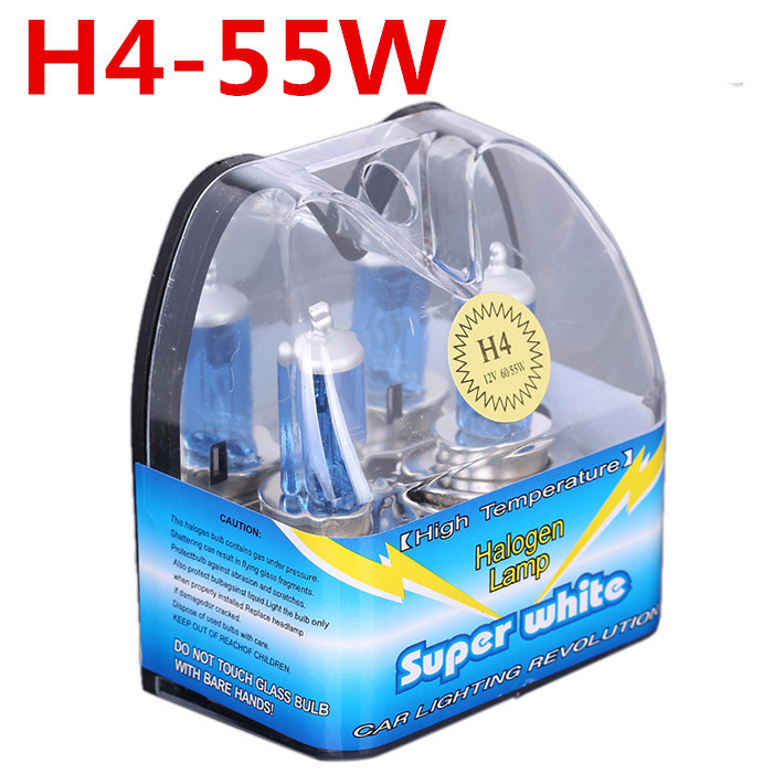 H4 55W Halogen With Packing Box High Power Fog Lights Auto Bulbs 6000K 12V Headlight For Ford Car Styling Parking