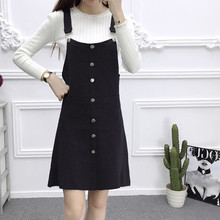 Spring autumn loose dresses sleeveless 2019 knitted dress black elegant short backless mini vintage clothes