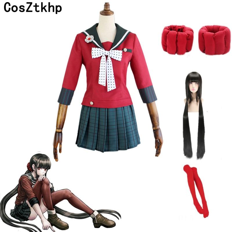 Danganronpa V3 Killing Harmony Harukawa Maki School Uniform Cosplay Costume Custom Any Size Wigs