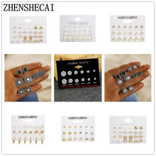 2019 EARRINNG SET for women crystal pearl ear jewelry simple fashion KOREAN EARRINGS for girl gift Brincos wholesale(China)