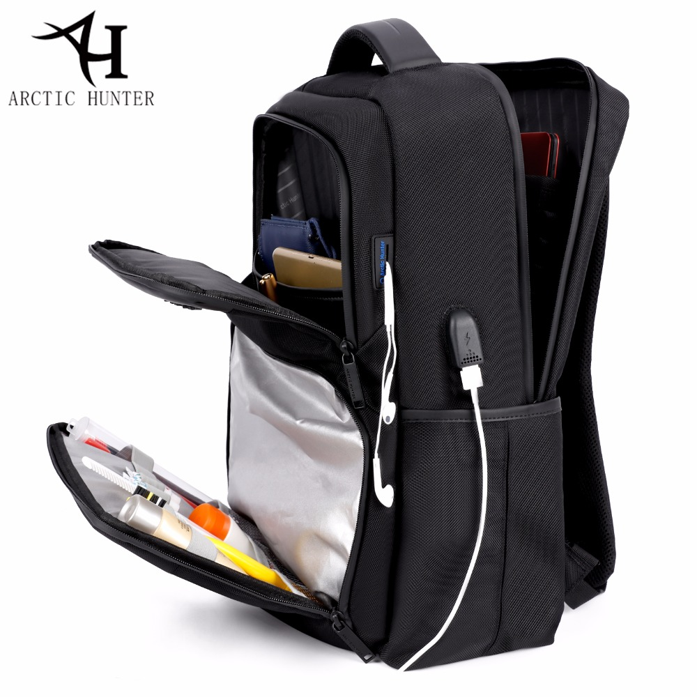 ARCTIC HUNTER 15.6 inch Laptop Backpacks bags for women USB Black backpack men waterproof school back pack mochila feminina vkingvsix usb waterproof school bags for teenagers 14 17 inch laptop backpack men women boy travel back pack bagpack mochila