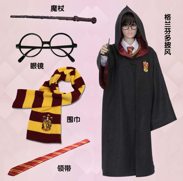 harry potter hufflepuffravenclawslytheringryffindor cosplay halloween costume for kids adult