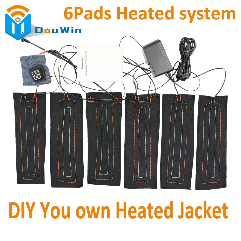 Heated Jacket Coat Vest Accessories USB 6 in 1 Carbon Fiber Heated Pads Warm Back Neck Fast-Heating 3 Temperature Settings колесные диски n2o y4601 6 5x16 5x114 3 d66 1 et40 carbon
