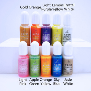 Image 4 - 10pcs Glowing in dark High Concentration Epoxy UV Resin Coloring Dye Colorant Pigment Handmade DIY Jewelry Making Access