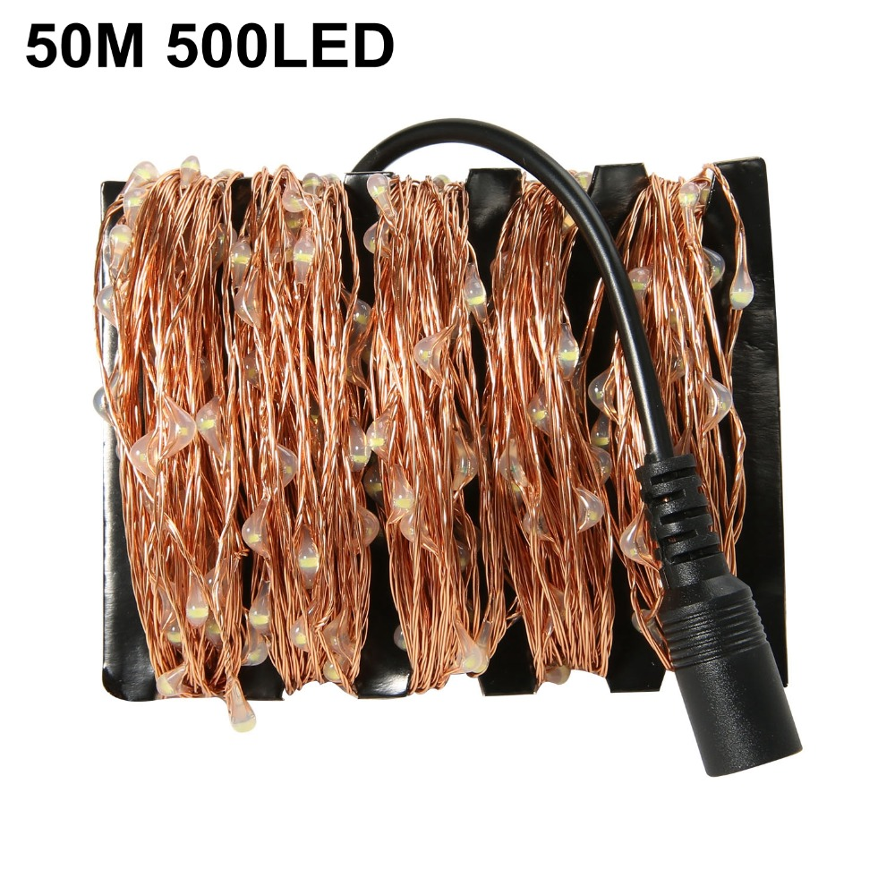 165Ft/50m 500 Leds Warm White Copper Wire LED String Starry Lights Fairy lights for christmas wedding party outdoor decoration