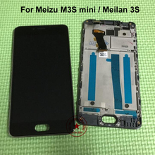 Best Working 5.0″ Full LCD Display Touch Screen Digitizer Assembly + frame For Meizu m3S mini / Meilan 3S Replacement parts
