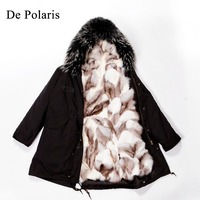 parka with real fur mink fur coat mink coats women Real natural Raccoon fur lining winter jacket Long hooded parkas