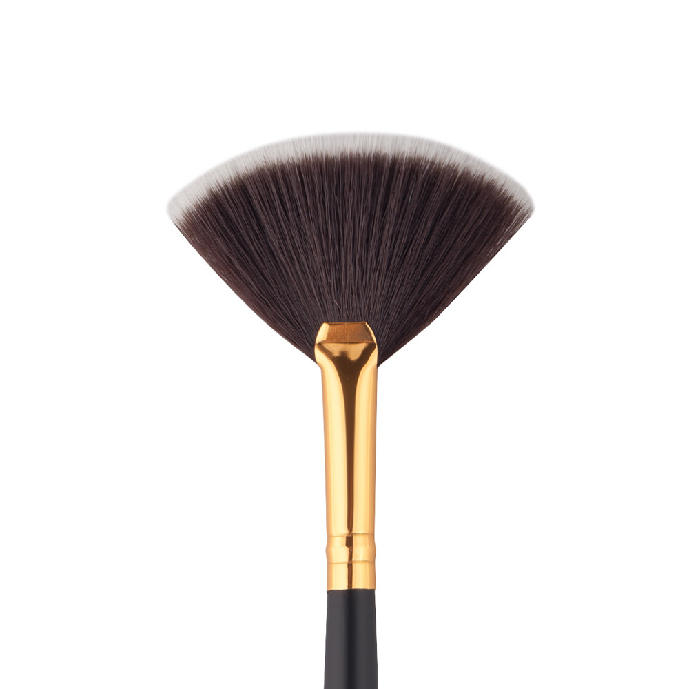 Makeup Brushes Slim Fan Shape Powder Concealer Blending Finishing Highlighter Highlighting Make up Brush Nail Art Cosmetic Tools dental kerr finishing polishing assorted kit occlubrush cup brushes
