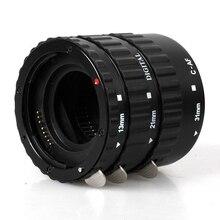 Preto Auto Focus AF Anel Tubo de Extensão Set para Canon SLR EOS Rebel X XT XTi XSi 1100D 700D 600D 550D 500D 450D 400D 350D 300D