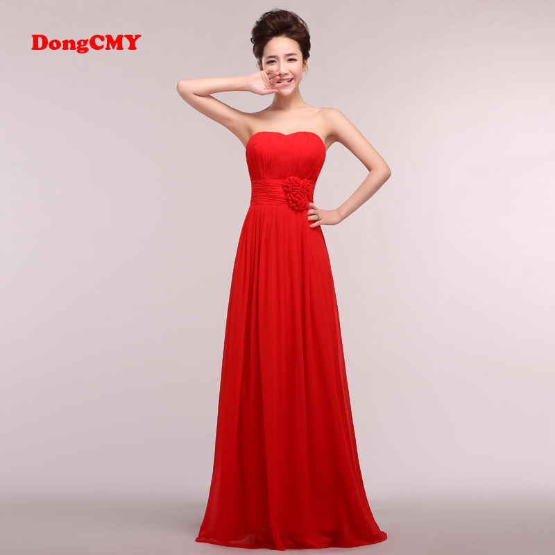 DongCMY 2019 New Arrival Chiffon Party Women Married Sweetheart   Bridesmaid     Dresses