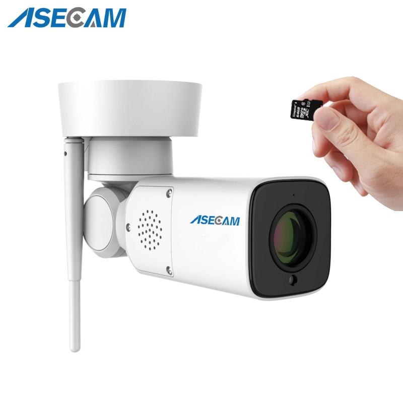 Nuovo Wifi HD 1080 p Macchina Fotografica del IP di IMX323 Outdoor PTZ di Sorveglianza Senza Fili Auto Obiettivo Zoom Varifocale P2P CCTV di Sicurezza Audio microfono