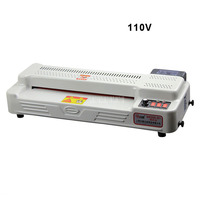 110V 600W A3 A4 Photo Document Paper Laminating Film Machine Cold/Hot Laminator 4 Rollers Max Width 320mm 300W GD350 B1