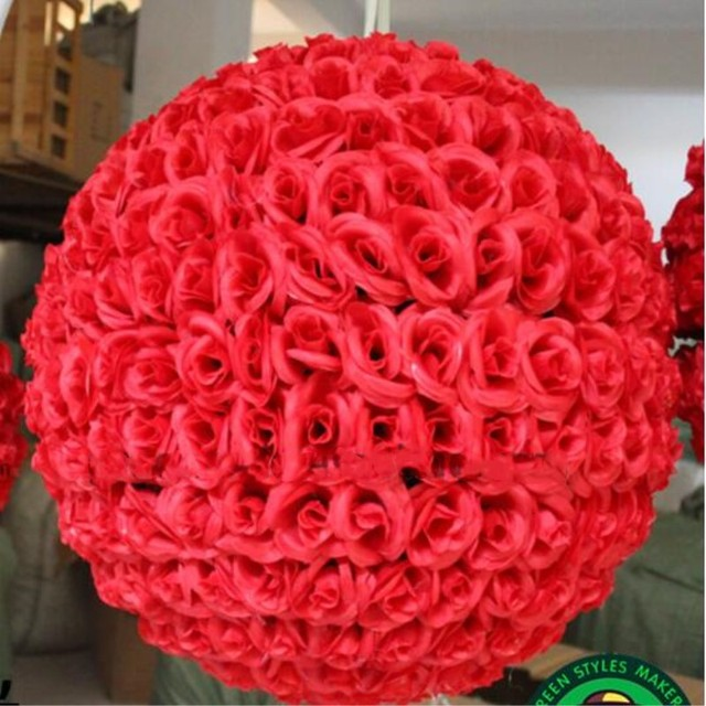 60 cm 23 artificial encryption rose silk flower ball hanging 60 cm 23 artificial encryption rose silk flower ball hanging kissing balls large size for mightylinksfo Choice Image