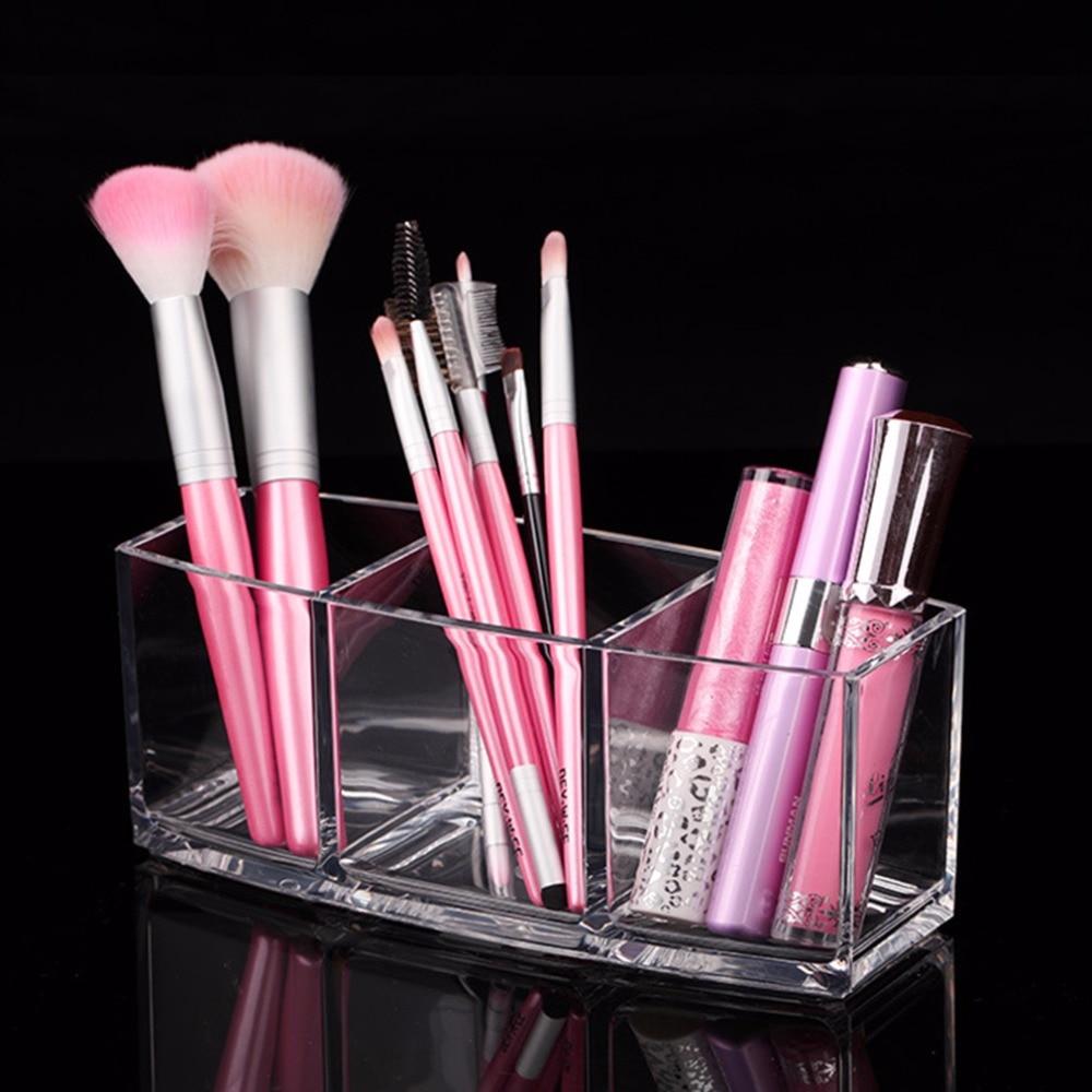 makeup brushes storage holder case box simple design transparent pen holder style makeup tools organizer home