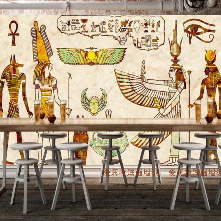 цены  Free Shipping 3D Ancient Egypt mural living room sofa TV background wall bedroom bathroom study lobby wallpaper mural