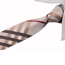 new 2016 fashion men necktie neck tie champagne Patriotic Tartan Plaid Skinny Tie ties for men jewelry acessorios high quality