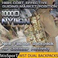 WoSporT 2017 Nova 1000D Nylon Dupla Caça Caminhadas Ao Ar Livre Mochila Tático saco de Viagem de Bolso Acessórios de Paintball