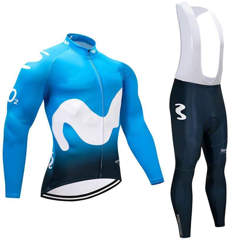 UCI 2018 Espana испанский Команда с длинным рукавом Велоспорт трикотаж велосипед Костюмы комплект Ропа Ciclismo велосипедов MTB одежда цикл комбинезон...