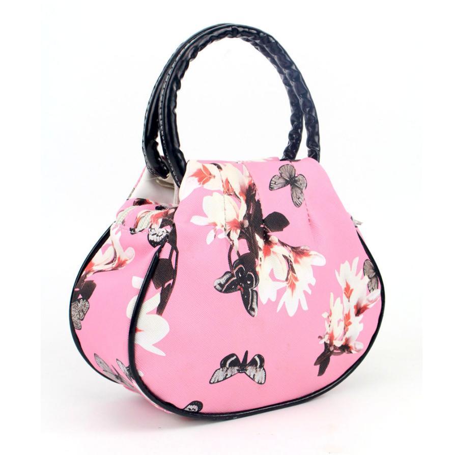 1166e93750b6 Fashion leather bags women Floral women s shoulder bag Ladies handbags  leather Retro Messenger Bag bolsas feminina LREW-in Top-Handle Bags from  Luggage ...