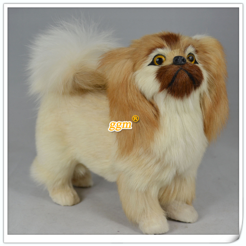 lovely  simulation Pekingese dog toy cute Pekingese dog model,fur& polyethylene doll about 20x17cm