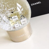 NEW Christmas VIP Gift Golden Snow Globe With Perfume Bottle Inside Snow Crystal Ball for Special Birthday Novelty
