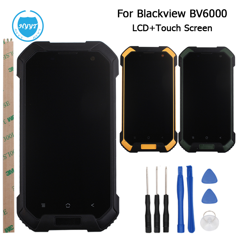 Prix pour Blackview BV6000S Écran LCD Display + Écran Tactile D'origine Digitizer Assemblée Pour Blackview BV6000 Cellulaire Téléphone + Outils + Cadre