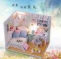 Деревянная кукла дом игрушки ручной работы с мебелью сборка DIY миниатюрный комплект модель детей для взрослых красоты подарок великолепная рассвет