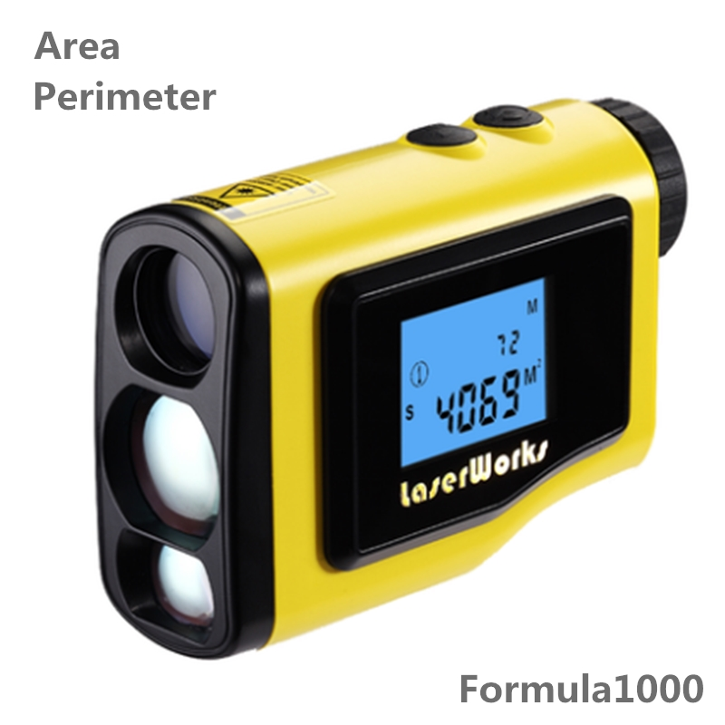 Rangefinder 1000m LCD height measure angle height measuring device digital level measuring instrument area circle rectangular