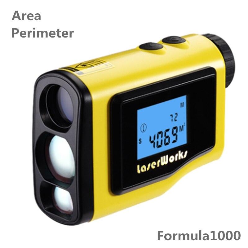 Дальномер 1000 м ЖК дисплей Высота Мера угол Высота измерительный прибор цифровой уровень измерительный инструмент площади круга прямоуголь