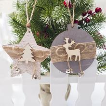 Рождественский колокольчик деревянная подвесная открытка Рождественская елка украшения инновационная деревянная подвесная открытка Рождественское украшение