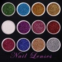 Discount 12 color 12bottle/set Mixed Designs Laser Glitter Nail Art Sequins Mini Round Slice Paillette Manicure DIY Nail Lenses