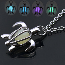 Hollow Turtle Shape Silver Color Choker Necklace Women Luminous Glowing in Dark Necklaces & Pendants Statement Necklace Gift