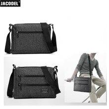Jacodel Canvas Shoulder Bag Informal Males Messenger Bag for Macbook iPad Pill Bag Korean and Japan Fashion Shoulder Cross Physique Baggage