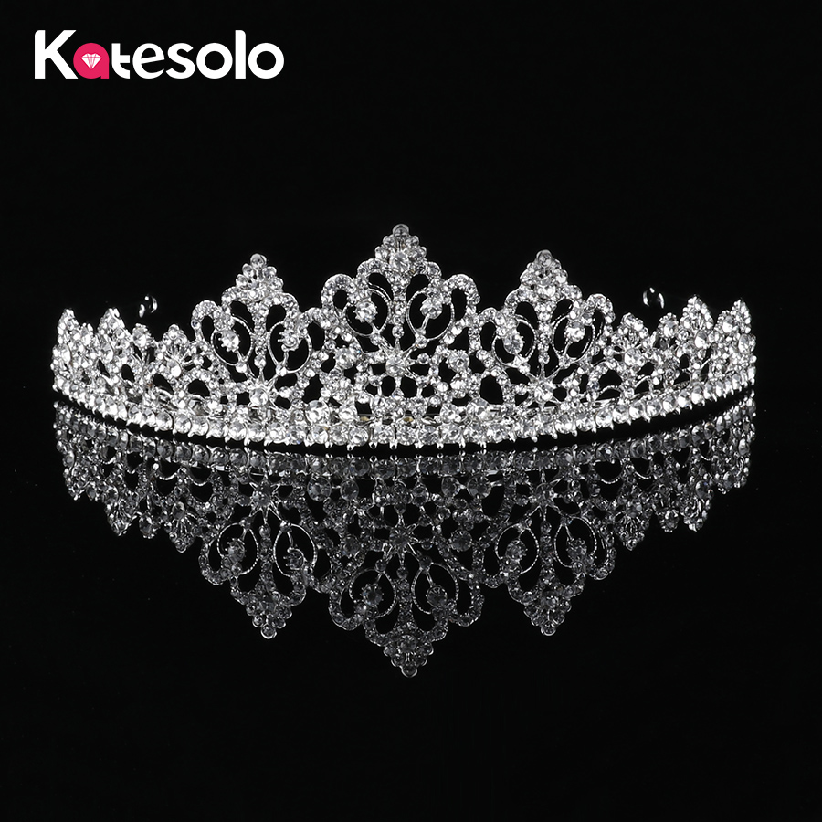 Hot Wholesale 5 Style Women Wedding Crystal Rhinestone Tiara Crown Bride Tiaras Girls Pageant Party Big Crowns Tiaras Jewelry ...
