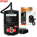 Car Code Reader Foxwell NT201 OBD OBDII auto OBD2 Scanner with Spanish Dutch Automotive Diagnostic-Tool for Multi Brand Cars
